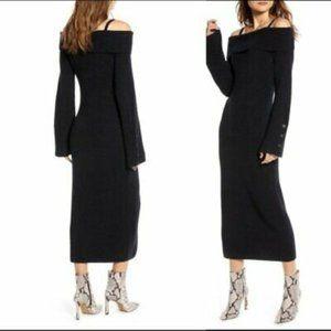 Something Navy Cold Shoulder Sweater Dress